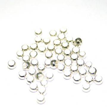 1000 x 3mm Silver on copper ball crimp silver plated - S.F10 - WC052 - 2502087